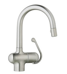 Grohe 32256SD0 Ladylux Pro Bar Prep Dual Spray Pull Down Kitchen Faucet - Stainless Steel