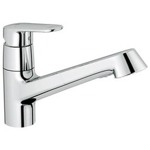 Grohe 32946002 Europlus Single Handle Dual Spray Pull-out Kitchen Faucet - Chrome