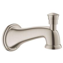 """Grohe 13338EN0 Parkfield 6 1/8"""" Diverter Tub Spout - Brushed Nickel"""
