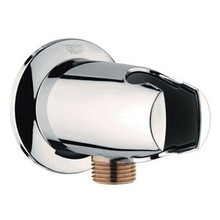 Grohe 28484BE0 Movario Wall Union Elbow With Hand Shower Holder - Polished Nickel