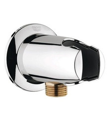 Grohe 28484000 Accessories Wall Union Elbow With Hand Shower Holder - Chrome