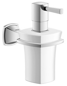 Grohe 40627000 Grandera Ceramic Wall Mount Soap & Lotion Dispenser With Holder - Chrome
