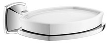 Grohe 40628000 Grandera Wall Mount Ceramic Soap Dish with Holder - Chrome
