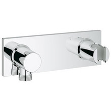 Grohe 27621000 Grohtherm Wall Union Elbow With Integrated Hand Shower Holder - Chrome