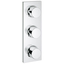 Grohe 27625000 Grohtherm Triple Volume Control Trim Set - Chrome