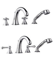 Grohe 25506000 Geneva Two Handle Roman Tub Filler Faucet With Handshower without Handles - Chrome
