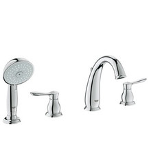 Grohe 25153000 Parkfield Two Handle Roman Tub Filler Faucet With Personal Hand Shower - Chrome
