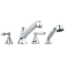Grohe 25077000 Somerset Two Handle Roman Tub Filler Faucet With Handshower - Chrome