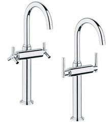 Grohe 21046000 Atrio Single Hole Two Handle Lavatory Vessel Faucet without Handles - Chrome