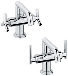 Grohe 21031000 Atrio Low Spout Two Handle Single Hole Lavatory Faucet without Handles - Chrome