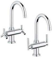 Grohe 21027000 Atrio High Spout Two Handle Single Hole Lavatory Faucet without Handles - Chrome