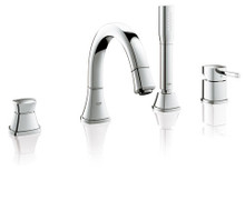 Grohe 19936000 Grandera Single Handle Roman Tub Filler Faucet With Personal Hand Shower - Chrome