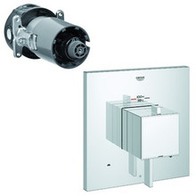 Grohe 19927000 Eurocube Dual Function Thermostatic Valve Trim With Control Module - Chrome