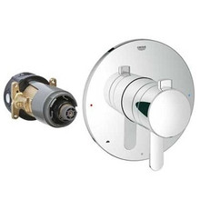 Grohe 19881000 Grohflex Cosmopolitan Dual Function Pressure Balance Valve Trim With Control Module - Chrome
