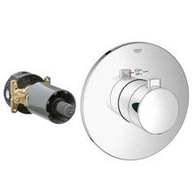 Grohe 19879000 Grohflex Cosmopolitan Custom Shower Thermostatic Valve Trim With Control Module - Chrome