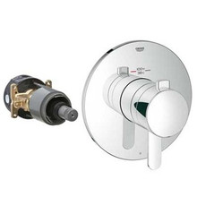 Grohe 19869000 Grohflex Cosmopolitan Single Function Thermostatic Valve Trim With Control Module - Chrome