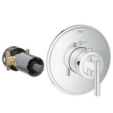Grohe 19865000 Grohflex Timeless Custom Shower Thermostatic Valve Trim With Control Module - Chrome