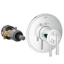 Grohe 19848000 Grohflex Timeless Single Function Thermostatic Valve Trim With Control Module - Chrome