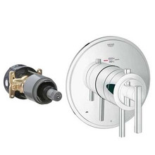 Grohe 19849000 Grohflex Timeless Dual Function Thermostatic Valve Trim With Control Module - Chrome