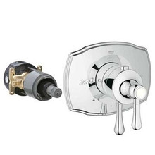 Grohe 19825000 Grohflex Authentic Dual Function Thermostatic Trim With Control Module Faucet - Chrome