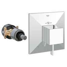 Grohe 19794000 Allure Brilliant Dual Function Thermostatic Valve Trim With Control Module - Chrome