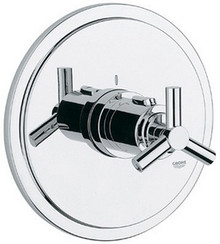 Grohe 19169000 Atrio Trio Spoke Handle Thermostatic Valve Trim - Chrome
