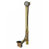 "Geberit 151450001 Bath Waste and Overflow Subassembly Tubular Brass Rough In with 1/2"" Brass Slip Joint"
