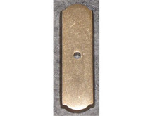 "Top Knobs M1431 LB Aspen Rectangle Backplate 2 1/2"" - Light Bronze"