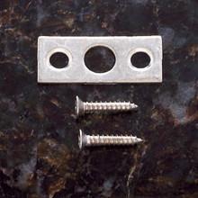 "JVJ 90446 Strike with Screws For 6"" Flush Bolt - Satin Nickel"