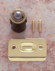 "JVJ 90137 Polish Brass Finish 7/8"" Drive In Ball Catch - Bulk"