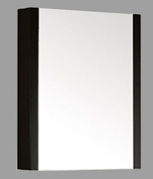 "Madeli Mf9-24p-030-WA Walnut Framed Medicine Cabinet Mirror 24"" W X 30"" H With Soft Closing Door"