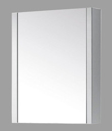 "Madeli Mf9-24p-030-GW Glossy Framed Medicine Cabinet Mirror 24"" W X 30"" H With Soft Closing Door"