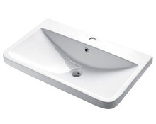 "Madeli Cb-3018r-WH White Ceramic Bathroom Sink 29 1/2"" W X 18"" D X 7 1/16"" H With Overflow with Single Hole - White"