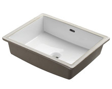"Madeli Cb-2015-WH Ceramic Undermount Sink 20"" W X 15 3/4"" D X 6 7/8 "" H with Overflow - White"