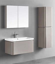"Madeli Euro Silk 36"" Vanity With Ceramic Sink Option"