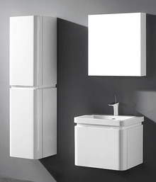 "Madeli Euro Glossy White 24"" Vanity With Ceramic Sink Option"