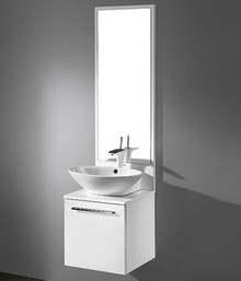 "Madeli Alassio Glossy White Wall Hung 18"" Vanity With Ceramic Sink Option"