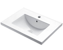 "Madeli CB-8124-WH Semi Recess Lav Sink With Overflow For Single Hole Faucet 24"" W - White"