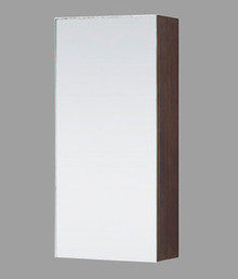 "Madeli MP990-12P-030-WA Walnut Medicine Cabinet Mirror With Soft Closing Door 12"" W X 25"" H"