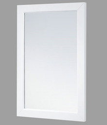 "Madeli RF-PD2436-003-MW Framed Vanity Mirror 24"" W X 36"" H - Matte White Finish"