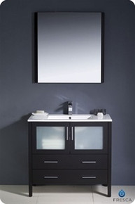 "Fresca Torino FVN6236ES-UNS 36"" Espresso Modern Bathroom Vanity Cabinet w/ Undermount Sink - Espresso"