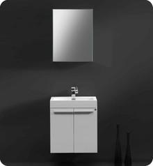 "Fresca Alto FVN8058WH 23"" Modern Bathroom Vanity Cabinet w/ Medicine Cabinet - White"