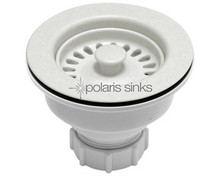 Polaris Strainer-W Standard Kitchen Basket Strainer Assembly - White