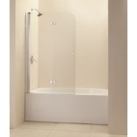 "Dreamline SHDR-3636580-01 Ez-fold 36"" Frameless Hinged Tub Door, Clear 1/4"" Glass - Chrome Hardware"