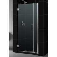 "Dreamline SHDR-20487210C-06 Unidoor Frameless Hinged Shower Door with Size Choices, Clear 3/8"" Glass - Oil Rubbed Bronze Hardware"