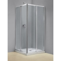 "Dreamline SHEN-8134340-01 Cornerview 34 1/2"" Framed Sliding Shower Enclosure, Clear 5/32"" Glass Shower - Chrome Hardware"