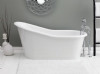 "Cheviot Dakota 2157w 61"" Cast Iron Bath Tub With Continuous Rolled Rim - White"