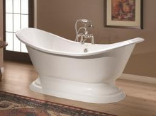 "Cheviot 2151w Regency 61"" Freestanding Clawfoot Footed Bath Tub Pedestal Base - White"