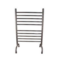 "Amba SAFSB-33 Solo Freestanding Plug-in Straight 38"" H x 32 1/2"" W Bathroom Towel Warmer - Brushed Stainless"