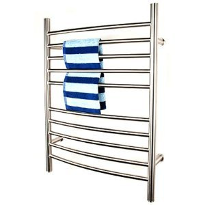 "Amba RWP-CP Radiant Plug-in Curved 31 1/2"" H x 23 3/4"" W Bathroom Towel Warmer - Polished Stainless"